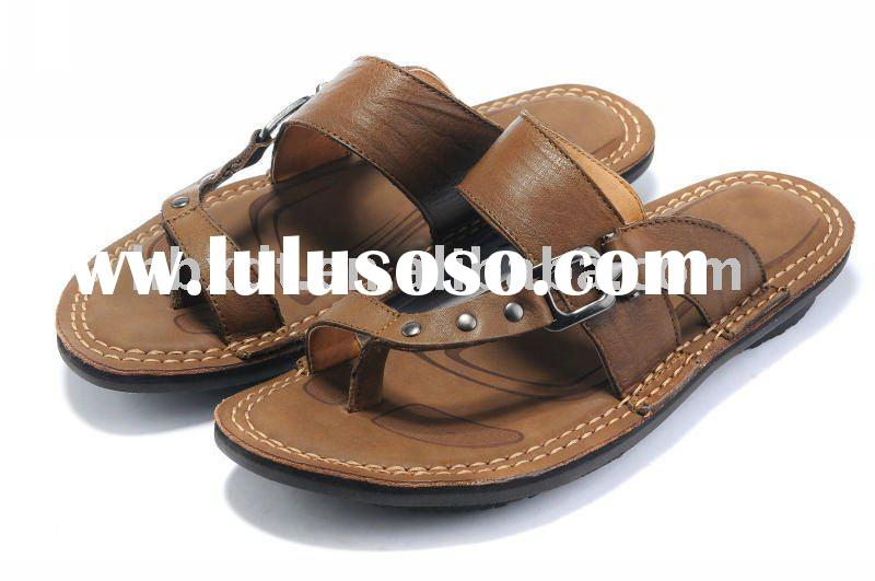 2011 summer leather sandals men's slippers