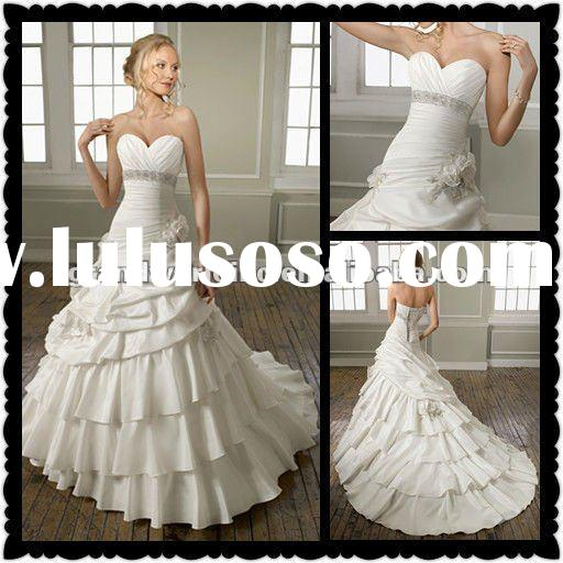 2012 Famous Design Sweetheart Taffeta Custom Made Wedding Dresses