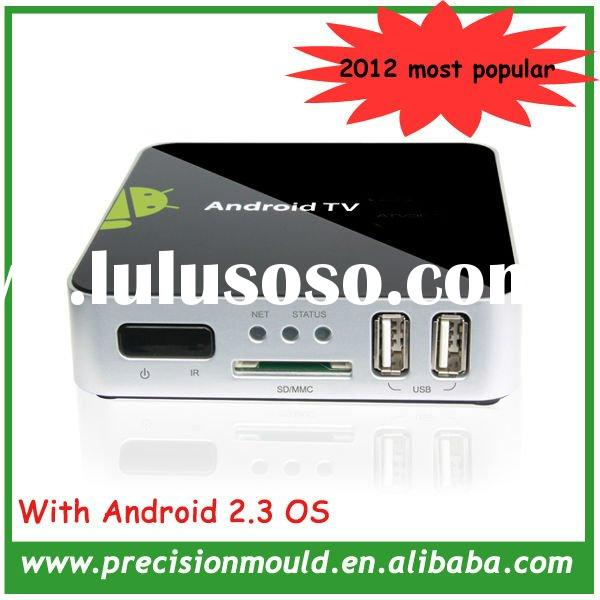 2012 Newest internet android 2.3 TV Box 1080P with wifi 2.4G Remote wireless