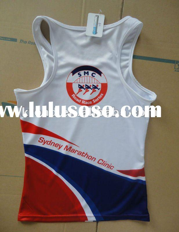 2012 coolmax Running Singlet quick dry Tech Tee vest with full sublimation