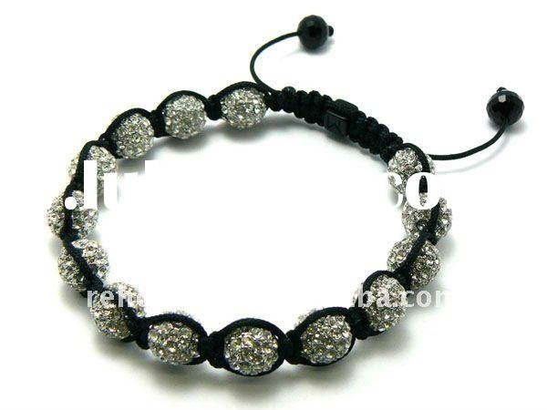 2012 fashion cheap wholesale shamballa beads;shamballa black;12mm shamballa bracelet