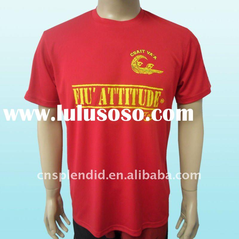 2012 fashion red printed funny t shirts for men