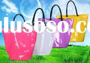 2012 fashionable patent pvc tote bag of multicolour provided