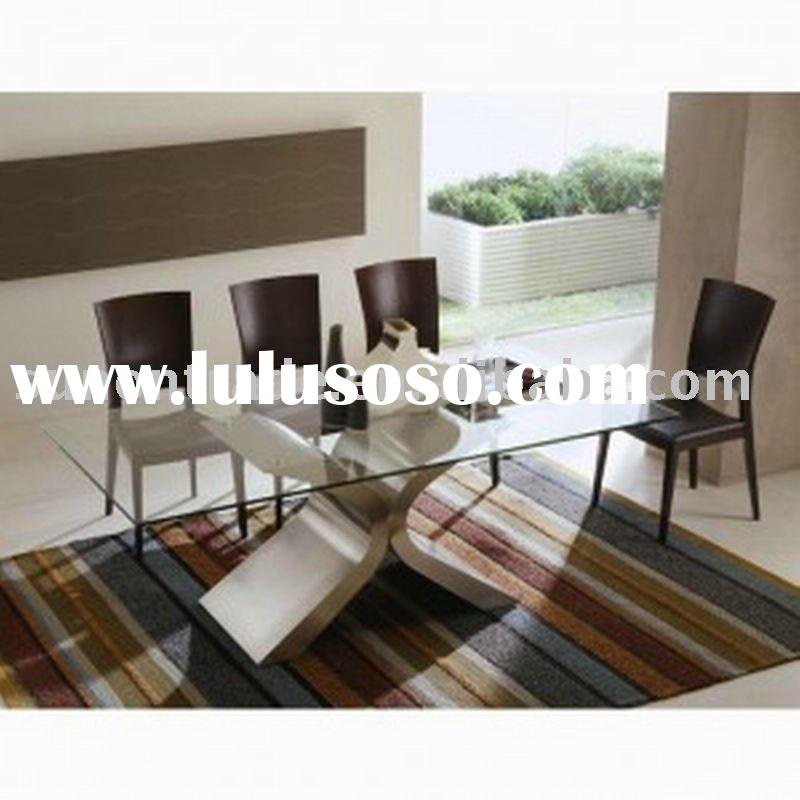 2012 new model extendable dining table with mdf high for New model wooden dining table