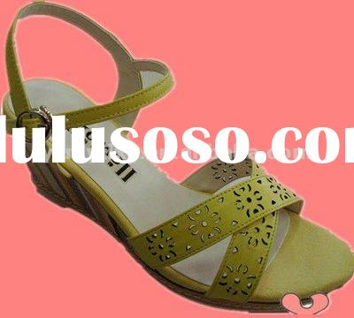 2012 new design name brand woman wedge shoes ladies fashion sandals