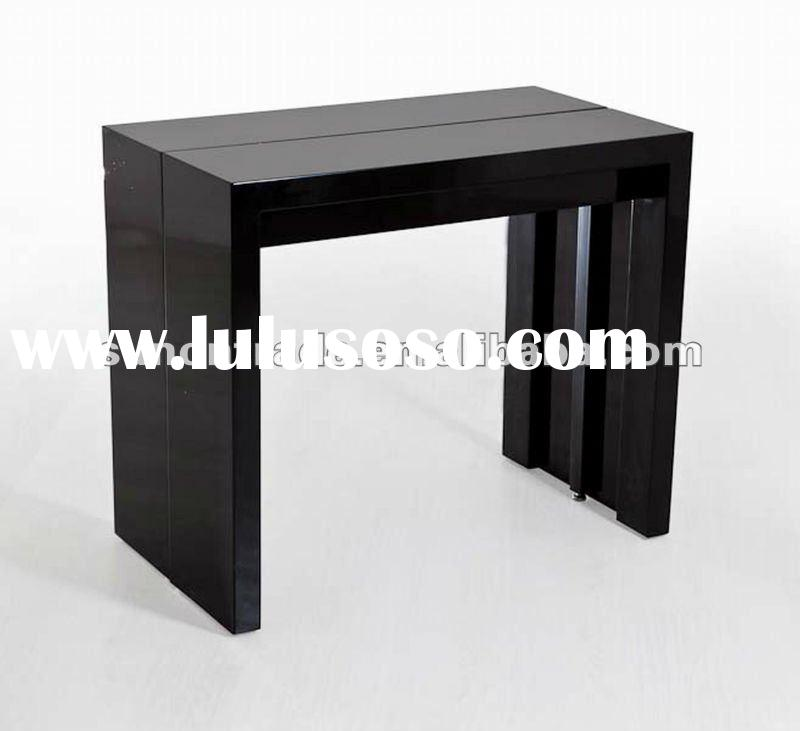 2012 new model extendable dining table with MDF high glossy painting