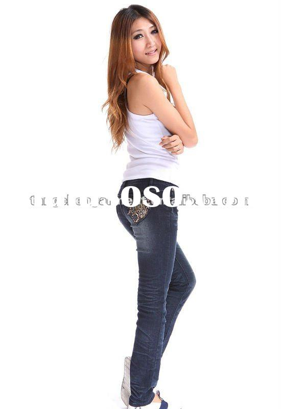 2012 new model jeans embroidery pocket design for women