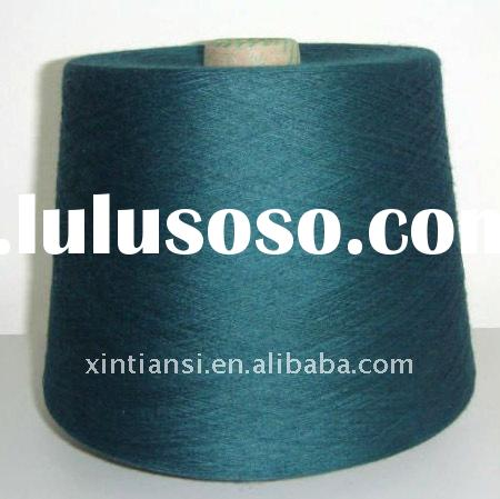 21s/1 autocone waxed green recycled ring spun knitting yarn