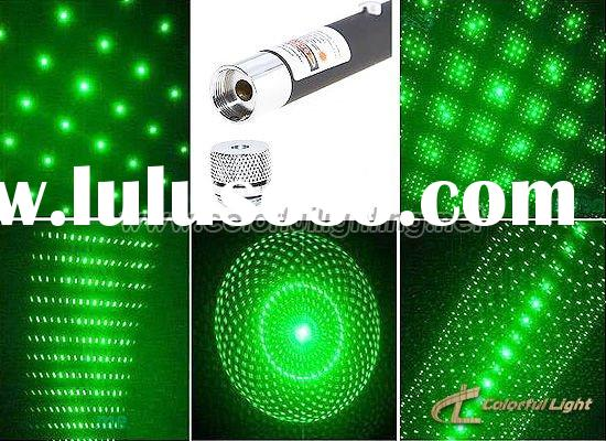 5mw-150mw Green Laser Pointer With Five Tops