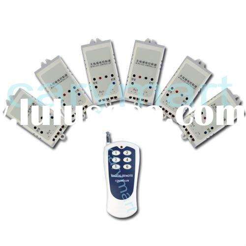 6 CH AC110v 120v 220v RF Transmitter And Receiver Remote Control Switch, Wireless Relay Controller S
