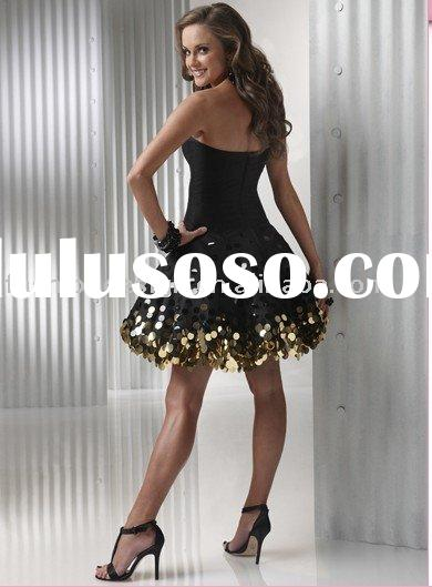 AYP205 Fashion and popular mini length sequins short prom dresses