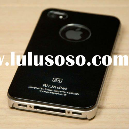 Air Jacket Case with Aluminum Back Plastic Frame for iPhone 4/4sLF-0533 TZ