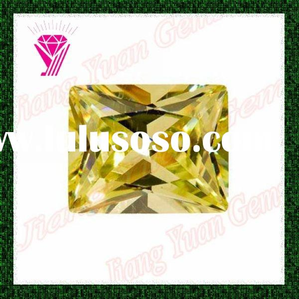 Apple Green Baguette Synthetic Cubic Zirconia For Jewelry
