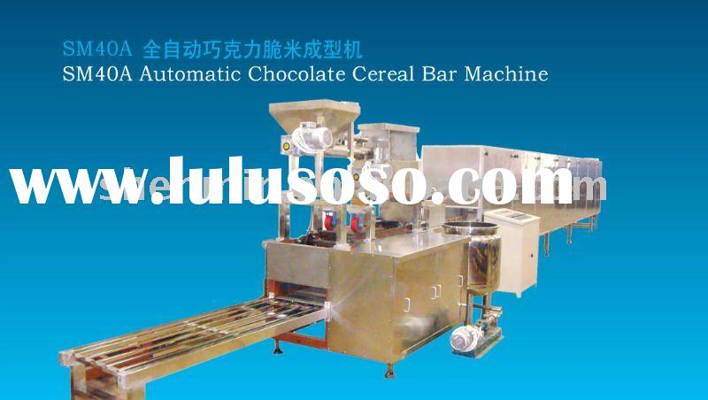 Automatic chocolate cereal bar machine