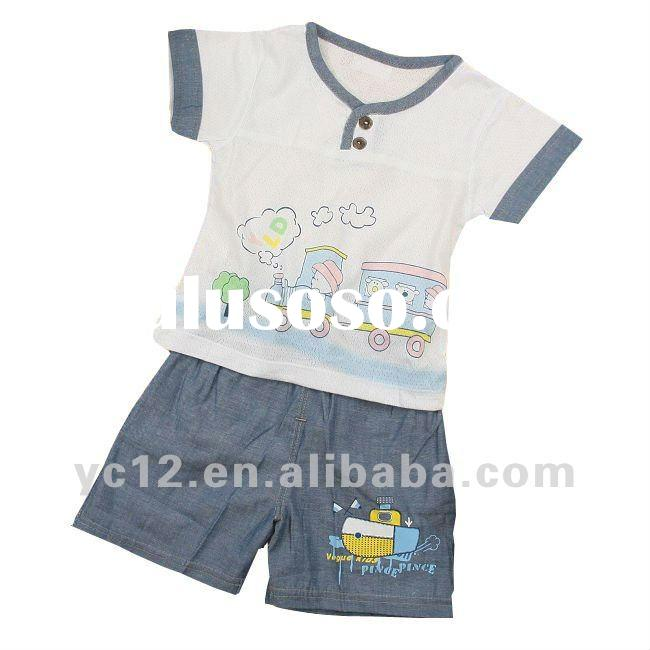 Baby 100%cotton printing short sleeve suits