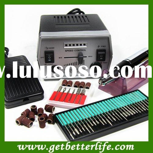 Black 288-Electric Nail Manicure Pedicure Drill File Tool Kit 12V