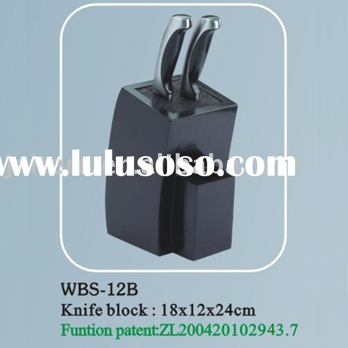 Black Universal Knife Block