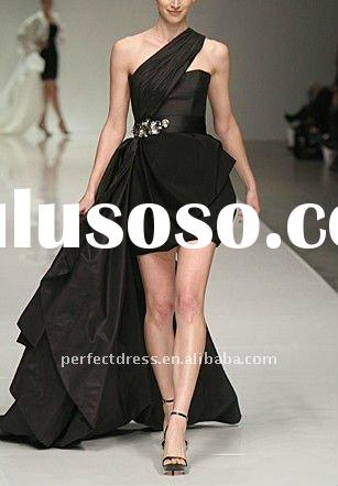 Black crystal evening dress fashion 2012 NSE0327