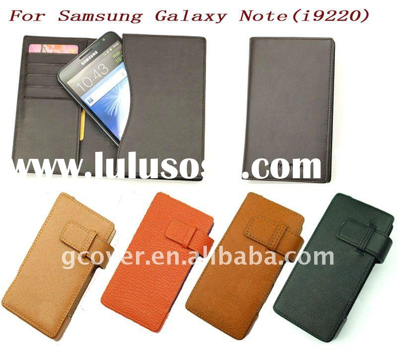 Brand new wallet leather case for Samsung galaxy note i9220