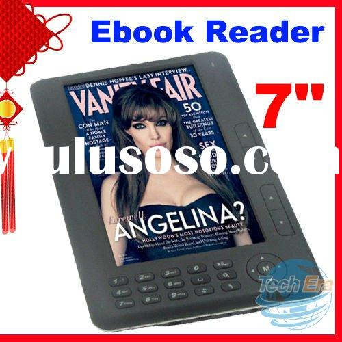 CHEAPEST! 7 inch TFT Screen 800*480 Color RK2729 Ebook Reader with FM radio
