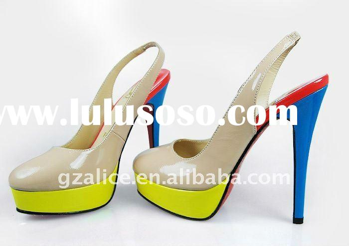CL0162 New style round toe high-heel shoes,patent leather fashion shoes