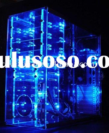 CUBE ACRYLIC COMPUTER CASE&BOXES WITH LED JH--043