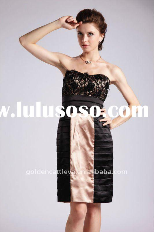 CW109 romantic strapless beaded arabic evening gowns dresses