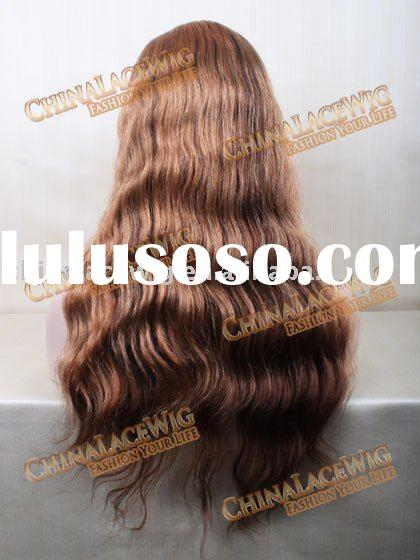 Celebrity Beyonce wave Brazilian hair full lace wig