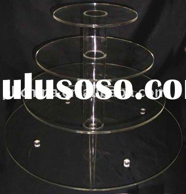 Clear Acrylic Cake Display/ Cupcake Stands JCD-075