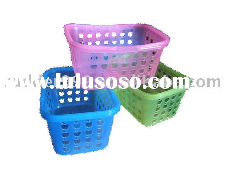Colored Plastic Basket With Handle