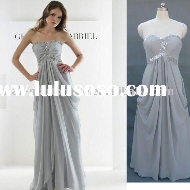 ED829 chiffon sweetheart long designer evening dress on sale 2012