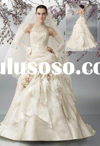 European style exquisite lace top ball gown Wedding Gown