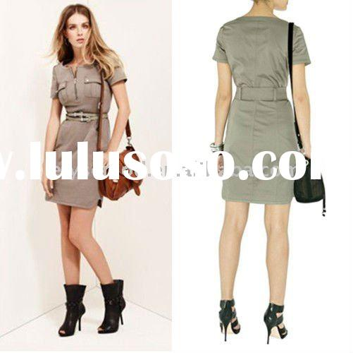 Fancy New Style Short Sleeves Knee Length Cheap Casual Dresses
