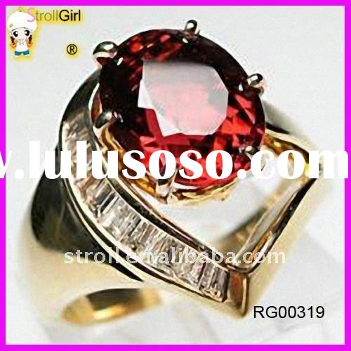 Fancy red diamond wedding for ladies