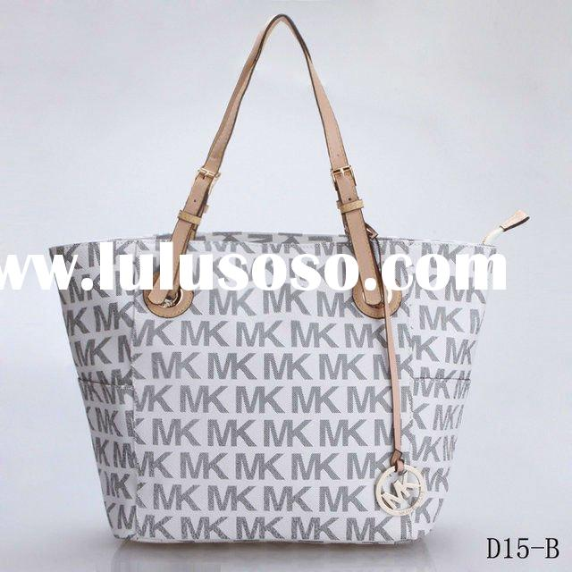 Fashion Michael Kors Logo-Print Signature Tote handbags ladies PVC leather MK bags