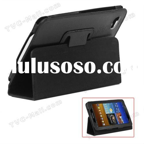 Folio Stand Leather Case for Samsung Galaxy Tab 7.7 P6800
