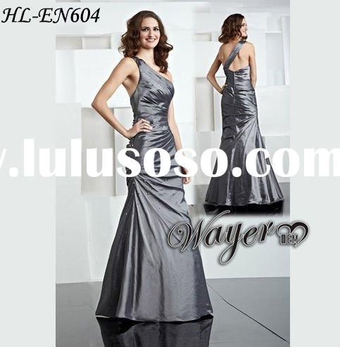 Shoulder Prom Dress on Formal One Shoulder Taffeta Grey Evening Dress Hl En604 Formal One
