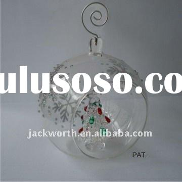 Glass Christmas Ball Ornament Clear