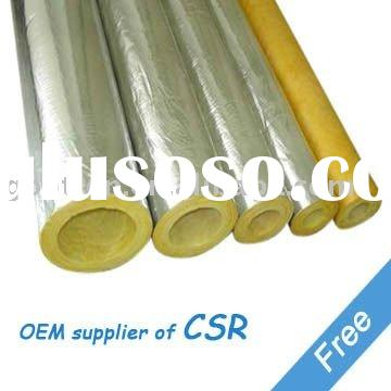 Glass Wool shell , Insulation Pipe, Thermal Insulation, Building Material