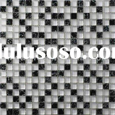 Glossy Ice Crackle Glass Mosaic Tile