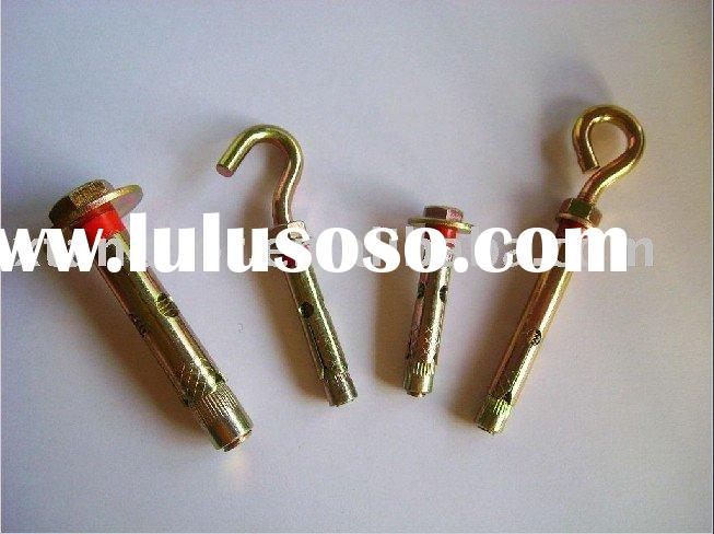 Hex Bolt With Sleeve Anchor ,Eyebolt & Hookbolt ,Red Plastic Ring