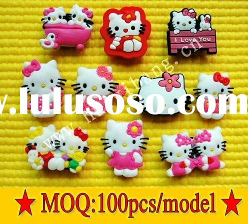 Hot Selling Hello Kitty Shoe Charms&Accessory MOQ 100pcs/1000style