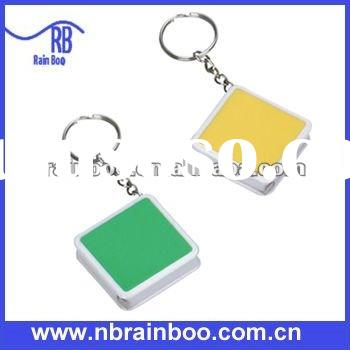 Hot selling new eco-friendly plastic tape measure keychain for promotion