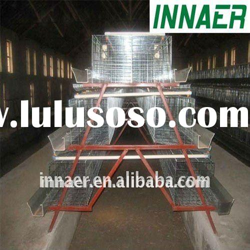INNAER galvanized low carbon steel wire chicken egg layer cages for poultry coop is your first selec