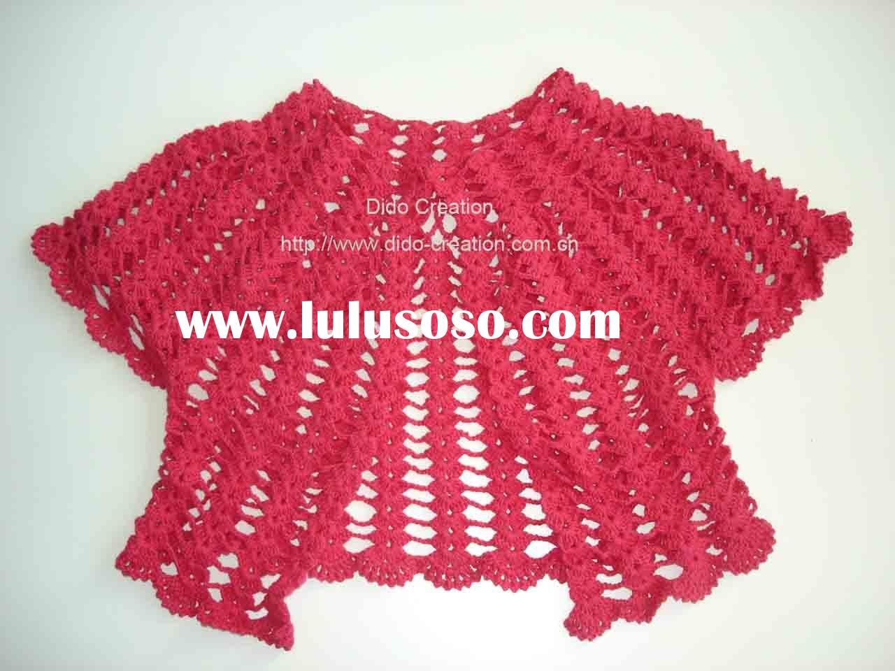 KT12001 Handmade crochet fashion clothes sweater garments apparel vest