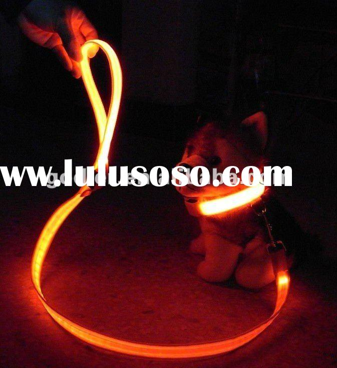 Led dog chain leads,factory supply,flashing pet collar,no moq,wholesale price