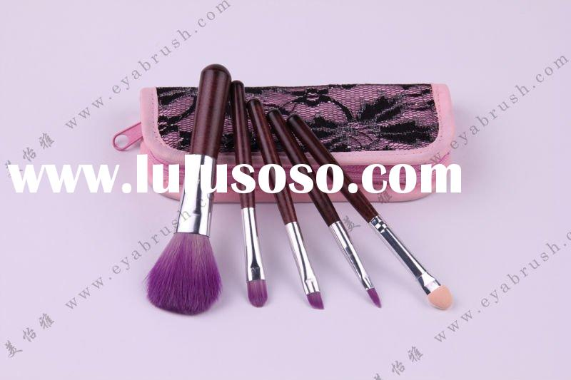 Mini Makeup Brush Set with 5-piece, Available in Various Hairs, OEM/ODM Orders Welcomed