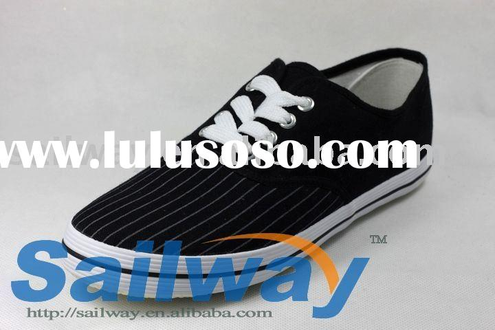 New Low Top Canvas Sneakers Men Shoes All Sizes Stripe