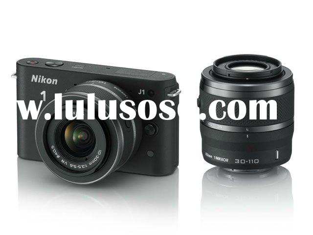 Nikon 1 J1 Kit with 10-30mm and 30-110mm Lens Digital SLR Cameras
