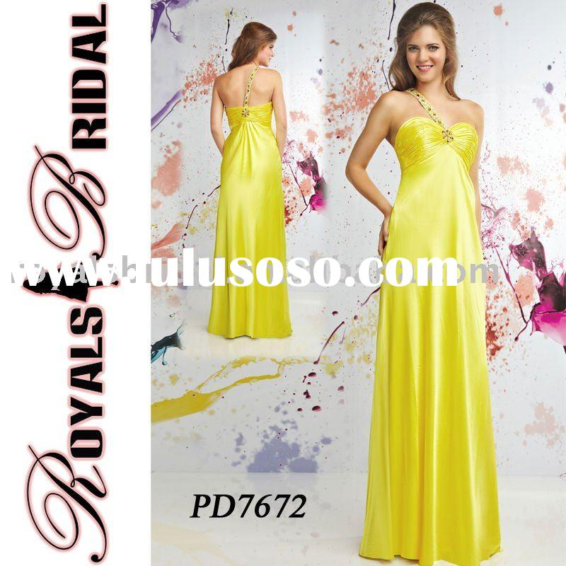 PD7672 Newest Fashion One Shoulder Evening Dress